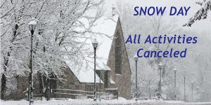 Snow Day — All Activities Cancelled