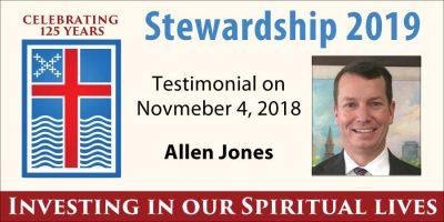 Stewardship 2019, Allen Jones