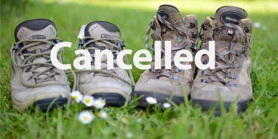 Hike Cancelled