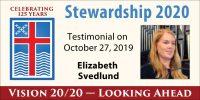 Elizabeth Svedlund Stewardship Testimony