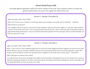 Advent Wreath Instructions