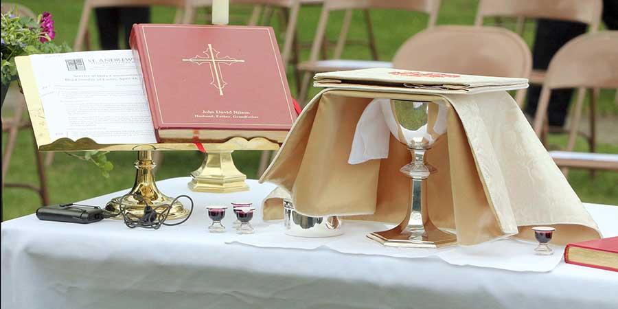 Outdoor Eucharist Service